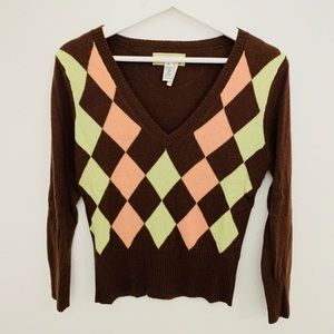 Abercrombie & Fitch Argyle Sweater